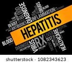 hepatitis word cloud collage ... | Shutterstock .eps vector #1082343623