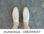 detail of young beautiful woman ... | Shutterstock . vector #1082345657
