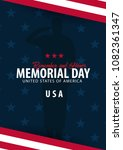 memorial day. remember and... | Shutterstock .eps vector #1082361347