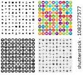 100 thunderstorm icons set... | Shutterstock .eps vector #1082377577