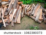 firewoods were cut from logs... | Shutterstock . vector #1082380373