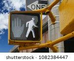 pedestrian walking sign traffic ... | Shutterstock . vector #1082384447