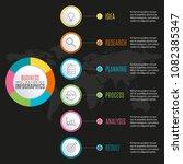 6 steps infographic design.... | Shutterstock .eps vector #1082385347