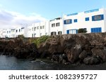 typical canarian white houses...   Shutterstock . vector #1082395727