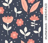 seamless pattern with flowers... | Shutterstock .eps vector #1082414123