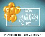 happy mothers day greeting card ... | Shutterstock . vector #1082445017