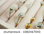 gold and silver diamond ring... | Shutterstock . vector #1082467043