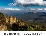 the three sisters and mount... | Shutterstock . vector #1082468507
