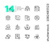 human resources   set of line... | Shutterstock .eps vector #1082485523