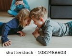 angry shouting kids and tired... | Shutterstock . vector #1082486603