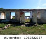 ruined house photo | Shutterstock . vector #1082522387