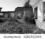 ruined house photo | Shutterstock . vector #1082522393