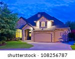 luxury house at night in... | Shutterstock . vector #108256787