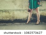 sexy female legs in modern high ... | Shutterstock . vector #1082573627