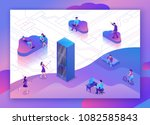 cloud data storage 3d isometric ...