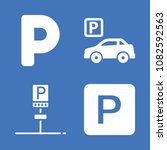set of 4 parking filled icons... | Shutterstock .eps vector #1082592563