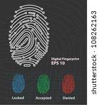 fingerprint reader  vector