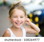 portrait of a beautiful liitle... | Shutterstock . vector #108264977