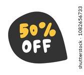 50   off. sticker for social... | Shutterstock .eps vector #1082656733