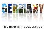 assorted images of germany in... | Shutterstock . vector #1082668793