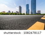 empty road with modern business ... | Shutterstock . vector #1082678117