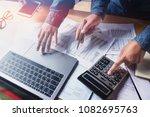 business teamwork checking... | Shutterstock . vector #1082695763