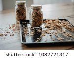 baking tray with freshly baked... | Shutterstock . vector #1082721317