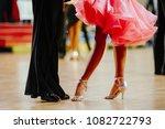 couple feet of dancers  woman... | Shutterstock . vector #1082722793