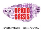 opioid crisis word cloud... | Shutterstock . vector #1082729957