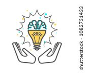 creative idea   light bulb and... | Shutterstock .eps vector #1082731433