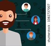 man character viral content... | Shutterstock .eps vector #1082737007