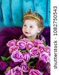 portrait of little princess... | Shutterstock . vector #1082750543