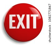 exit sign red 3d symbol round...   Shutterstock . vector #1082771867