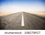 Road Across The Salt Lake Of...