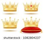 king royal golden crown vector... | Shutterstock .eps vector #1082804237