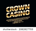 vector glossy sign crown casino.... | Shutterstock .eps vector #1082827703