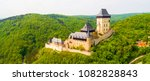 aerial view to the karlstejn... | Shutterstock . vector #1082828843