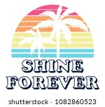 vintage tropical sunset graphic.... | Shutterstock .eps vector #1082860523