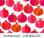 pomegranates mix seamless...   Shutterstock .eps vector #1082862233