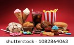unhealthy products. food bad... | Shutterstock . vector #1082864063