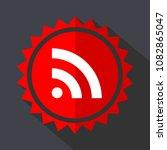rss red sticker flat design...   Shutterstock .eps vector #1082865047