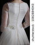 supermodel in wedding bridal... | Shutterstock . vector #1082884043