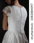 supermodel in wedding bridal... | Shutterstock . vector #1082884097
