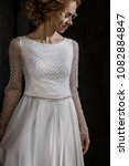 supermodel in wedding bridal... | Shutterstock . vector #1082884847