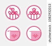 knitting labels and logo... | Shutterstock .eps vector #1082932013