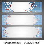 Horizontal web banners. Pixel art. Vector - stock vector