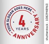 4 years anniversary logo... | Shutterstock .eps vector #1082948963