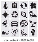 eco energy icons | Shutterstock .eps vector #108296837