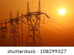 high voltage electrical tower... | Shutterstock . vector #108299327
