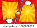 comic book versus template... | Shutterstock .eps vector #1083000653